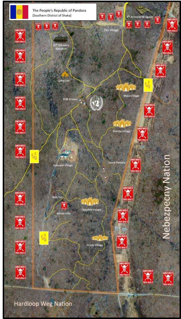 RSM Pandora aerial shot of entire training map for HEAT training